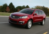 2013 Chevrolet Traverse Facelift Red Front View