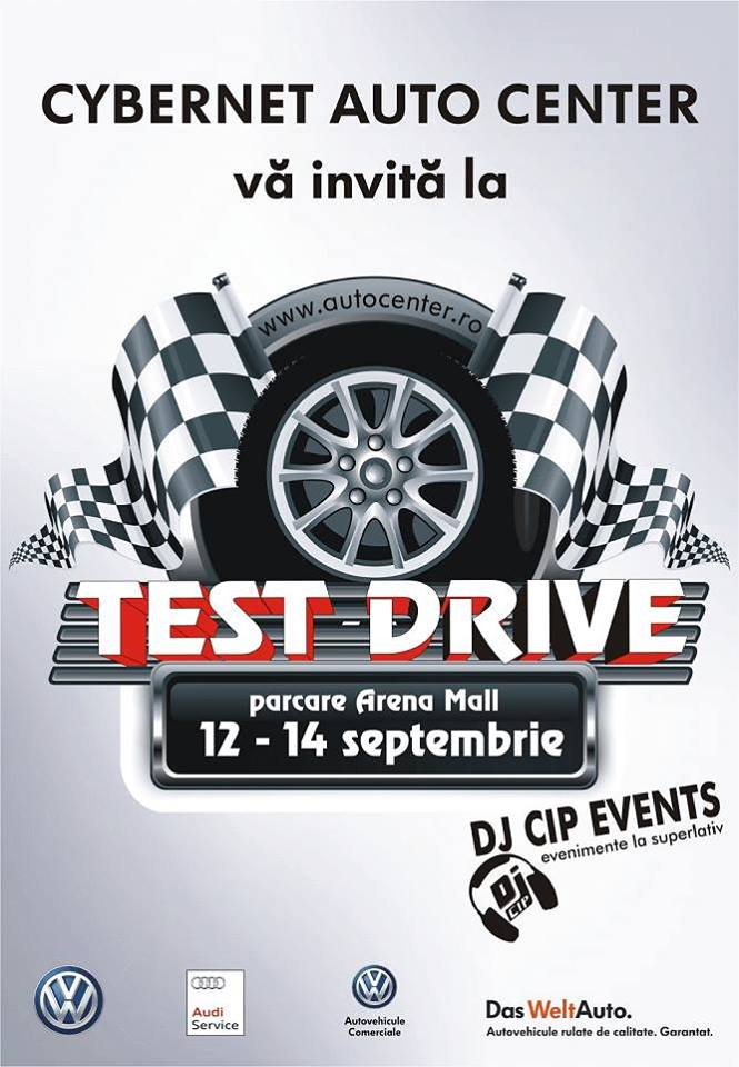 Invitatie la test drive cu Cybernet Auto Center Bacau, 12-14 septembrie 2014