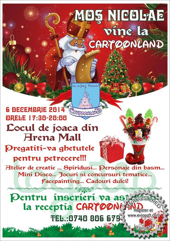 Cartoonland Arena Mall Bacau-Mos Nicolae, 6 decembrie 2014
