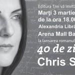 Lansare de carte Chris Simion in Alexandria Librarii Arena Mall Bacau