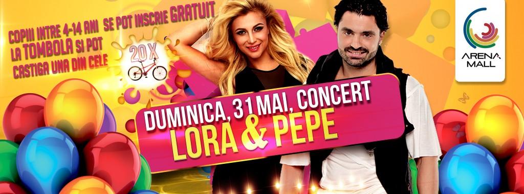 """TOMBOLA """"Cadouri mari pentru cei mici"""" & CONCERT Lora & Pepe: 31 MAI 2015"""