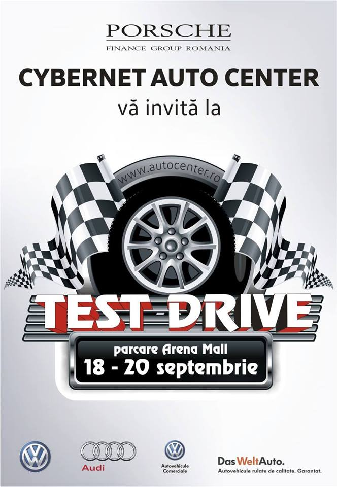 TEST DRIVE CU CYBERNET AUTO CENTER IN PARCAREA ARENA MALL 18-20 sept 2015