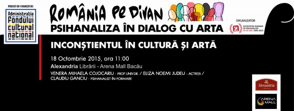 """PROIECTUL """"Romania pe divan"""" AJUNGE LA BACAU: 18 oct 2015"""