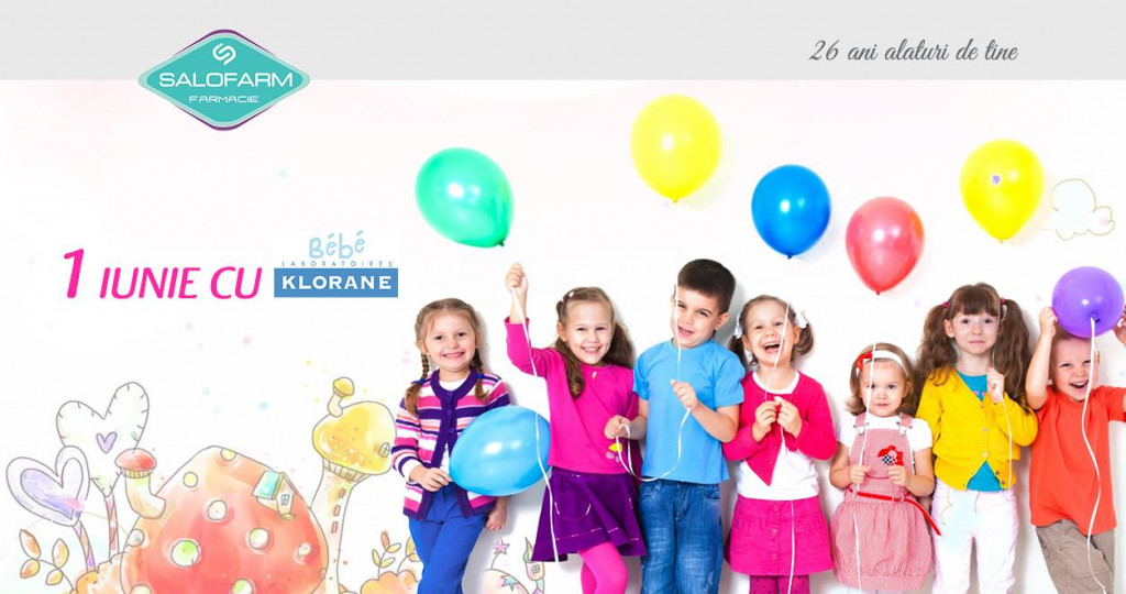 La Mulți Ani de 1 Iunie cu Klorane Bebe! Salofarm