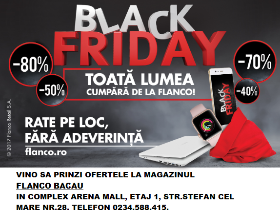 Black Friday Flanco Arena Mall-reduceri electrocasnice
