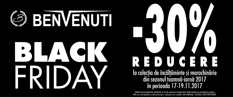 benvenuti black friday nov 2017