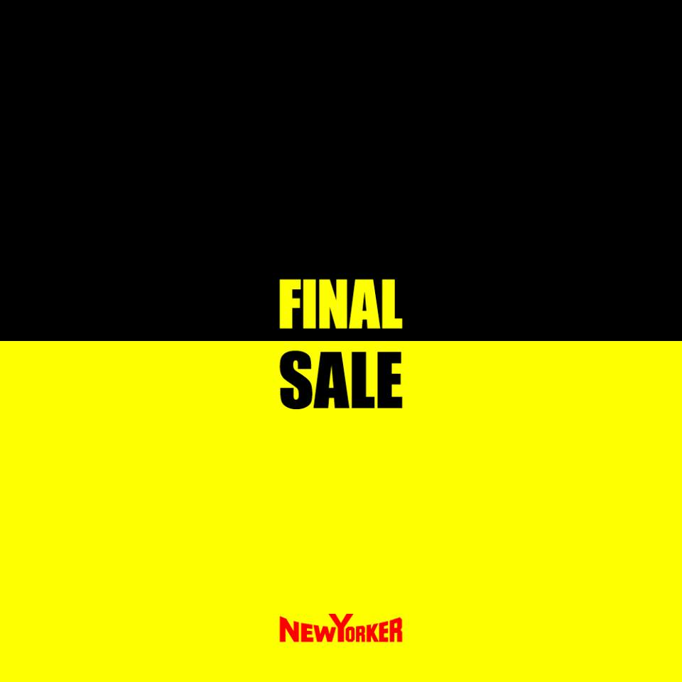 Final sale decembrie 2017 winter New Yorker
