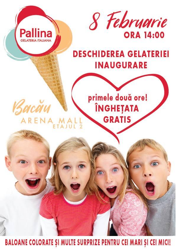 Pallina Gelateria in Arena Mall inaugurare