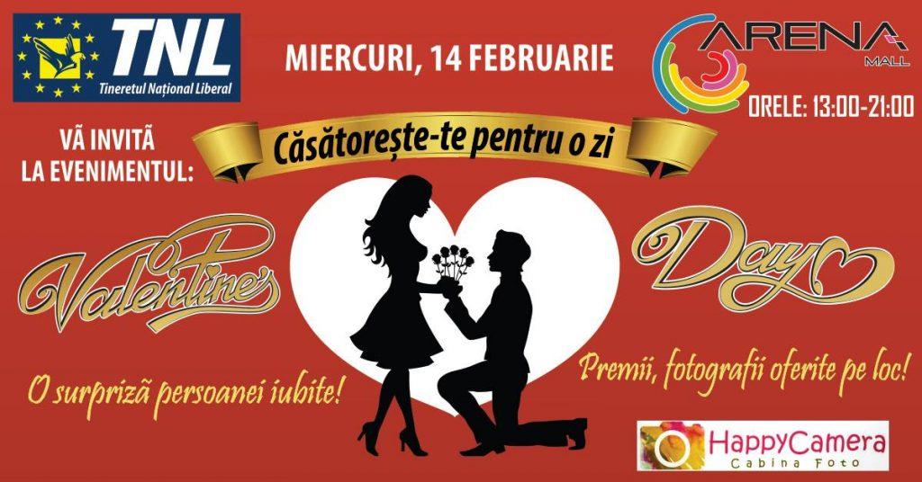 Casatorii pentru o zi Valentine's Day Arena Mall-TNL Bacau