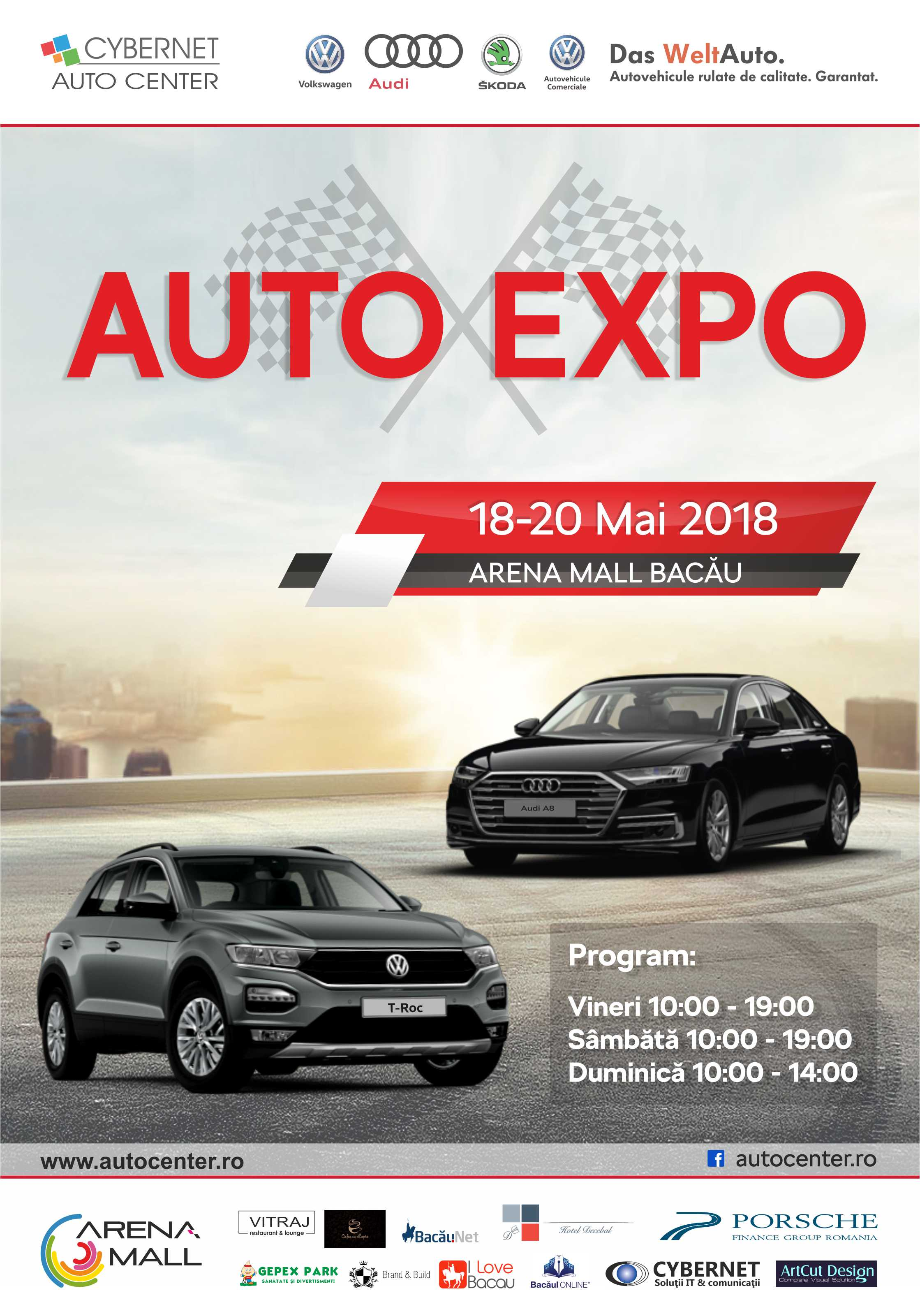 Poster AUTO EXPO, Cybernet Auto Center, 18-20.04.2018